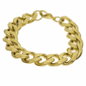 St. Steel 14MM Gold Bracelet 8.5""