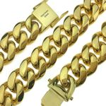 "Gold Plated 20"" x 18MM St. Steel Chain"