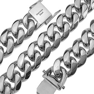 "Silver 20"" x 18MM St. Steel Chain"