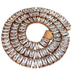 """Rose Gold S.Steel One Row Chain 18"""""""