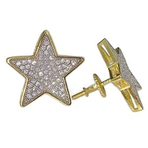 Big Star 925 Silver 2-Tone Earrings 18MM