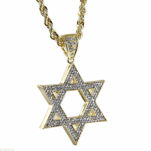 "Star Of David 30"" Rope Chain"