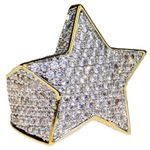 Star Two-Tone CZ Micro Pave Ring