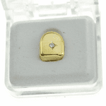 Gold CZ Single Tooth
