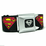 Superman Black Seatbelt Belt