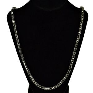 One Row Hematite Tennis Chain 30""