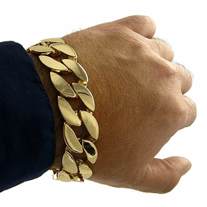 20MM Cuban Gold Bracelet 9""