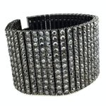 Titanium Grey 12 Row Bling Bracelet
