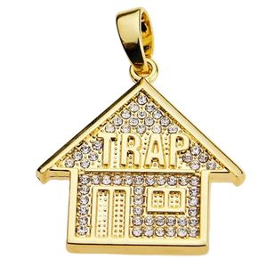 Trap House Gold Micro Pendant
