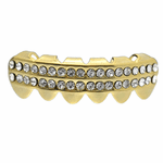 Gold 2-Row Bottom Teeth Grillz