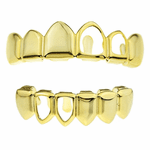 2 Open Sides Gold Teeth Grillz Set