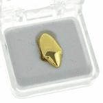 14k Gold Plated Fang Tooth Cap