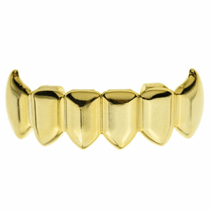 14K Gold Plated Bottom Fang Grillz