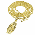 Micro Mary Gold Rope Chain 24""