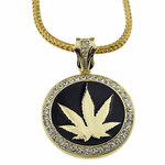 "Weed Coin 36"" Franco Chain"