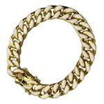 14K Gold Plated White Bracelet