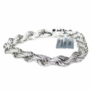 White Gold Plated CZ Rope Bracelet