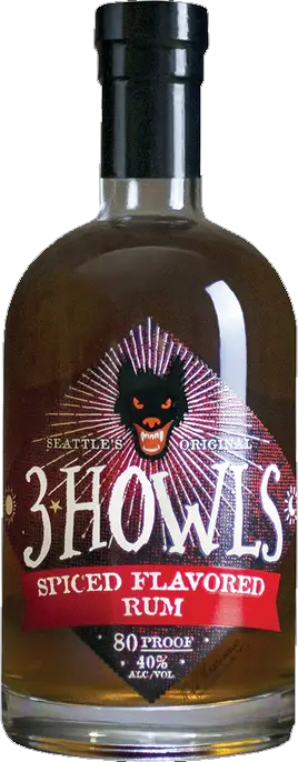 3 Howls Spiced Rum 750ML (case of 6)