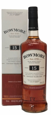 Bowmore 15 Year Old Darkest Single Malt Scotch 750ML