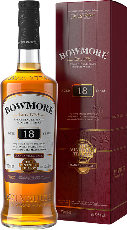 Bowmore Vintner's Trilogy 18 Year Old Double Matured Manzanilla 750ML