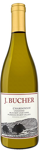 Bucher Vineyard Unoaked Chardonnay 750ML 2015