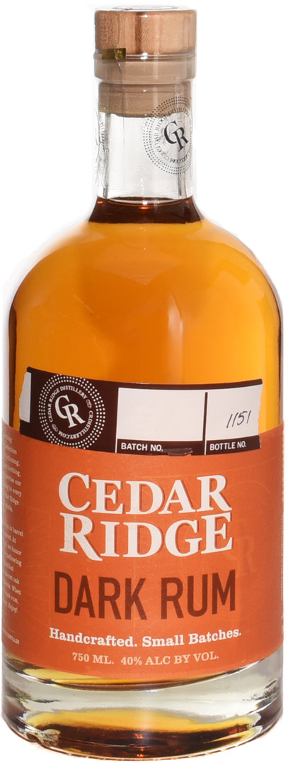 Cedar Ridge Dark Rum 750ML