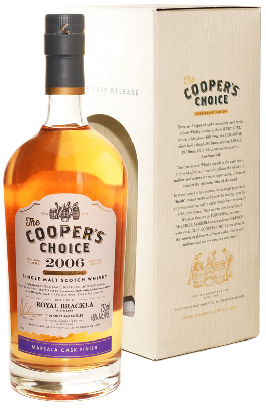 Cooper's Choice Royal Brackla 10 Year Old Single Malt Scotch 2006