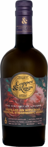 Copper & Kings the History of Lovers Rose Gin 750ML