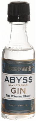 Crooked Water Abyss Navy Strength London Dry Gin 50ml