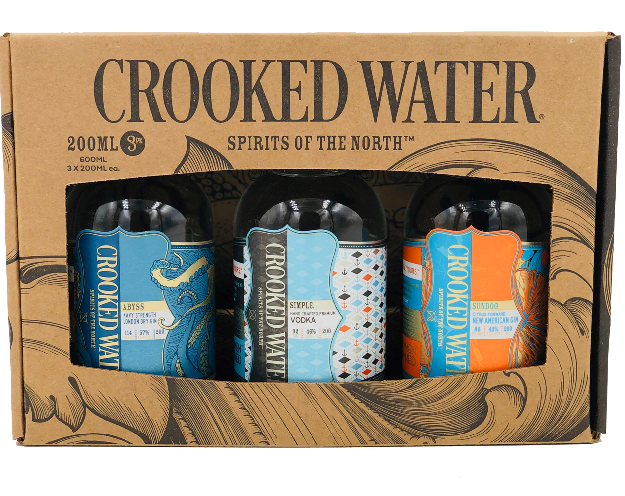 Crooked Water Clear Spirits 3 Pack