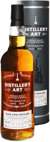 Distillers Art Blair Athol 21 Year Old Single Malt Scotch 1995