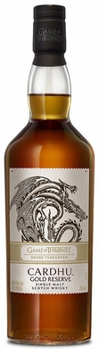 Game of Thrones House Targaryen Cardhu Gold Reserve Single Malt Scotch