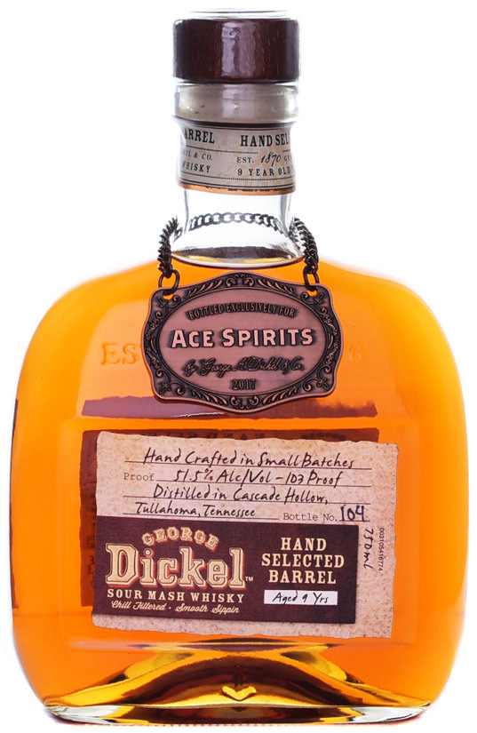 George Dickel 9 Year Old Whisky 2017- Ace Spirits Single Barrel Selection 750ML