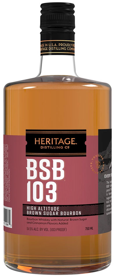 Heritage BSB 103 Brown Sugar Bourbon 103 Proof