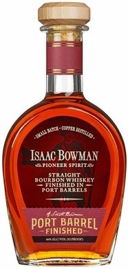Isaac Bowman Pioneer Spirit Straight Bourbon Whiskey Finished in Port Casks 750ML