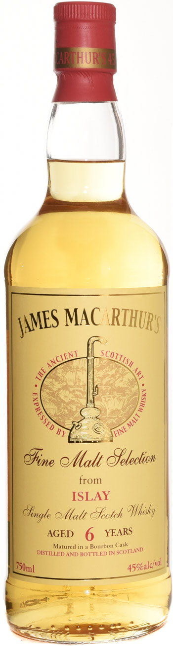 James Macarthurs Islay 6 Year Old Single Malt Scotch