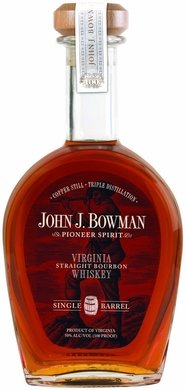 John J. Bowman Pioneer Spirit Virginia Single Barrel Straight Bourbon Whiskey