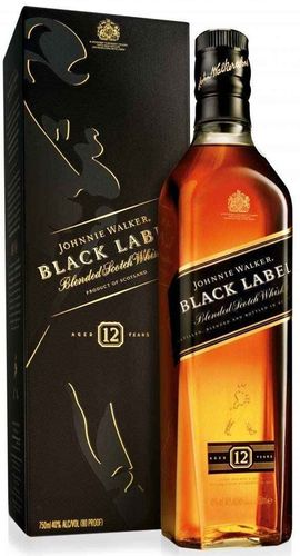 Johnnie Walker Black Label Blended Scotch 750ML