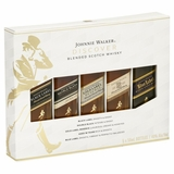 Johnnie Walker Discovery Pack (5 50MLs including JW Black, Blue, Gold, Double Black, and 18yr)