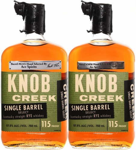 Knob Creek Single Barrel Rye Whiskey 2 Pack