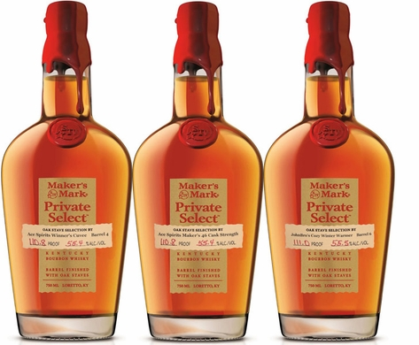 Maker's Mark 46 Private Select Barrel Bourbon 2018 3 Pack
