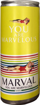Marval White 250ml Can (case of 24)
