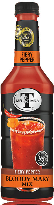 Mr. & Mrs. T Fiery Pepper Bloody Mary Mix 1L (Case of 6)