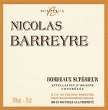Nicolas Barreyre Bordeaux Superieur 2015