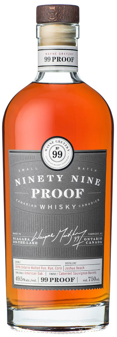 No. 99 Wayne Gretzky 99 Proof Canadian Whisky