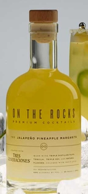 On The Rocks Jalapeno Pineapple Margarita Made With Tres Generaciones 375ML