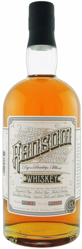 Ransom Rye, Barley, Wheat Whiskey 750ML NV