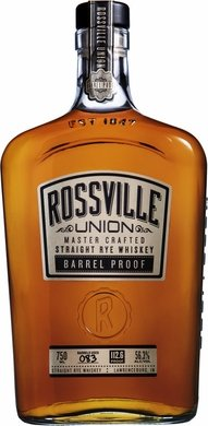 Rossville Union Barrel Proof Master Crafted Straight Rye Whiskey 750ML