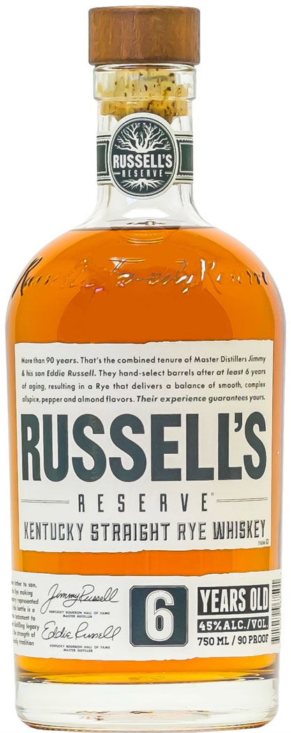 Russells Reserve 6 Year Old Rye Whiskey 750ML