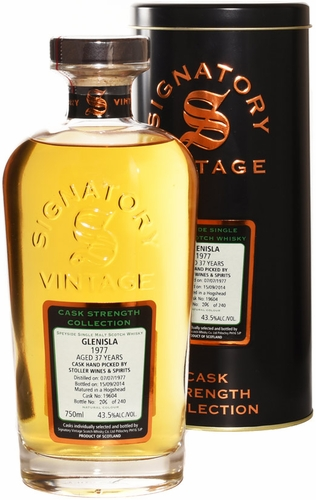 Signatory Glenisla 37 Year Old Cask Strength Single Malt Whisky 750ML 1977